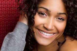 woman with dental bridge